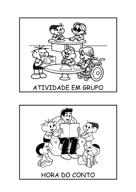 Fichas De Rotina Grupo E Conto Pra Gente Miuda