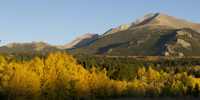 wild basin entrance in rocky mountain natioanal park with aspens