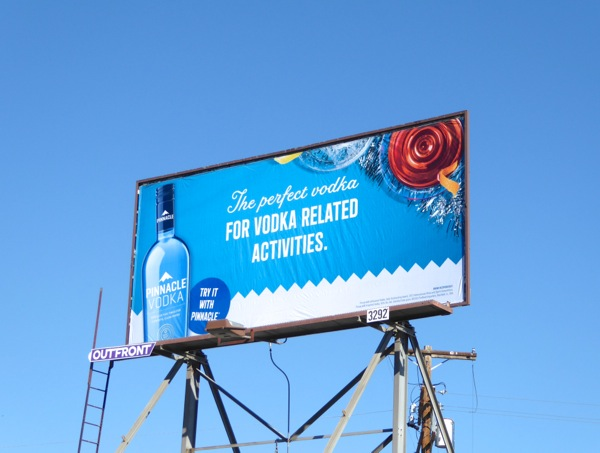 Pinnacle Vodka related activities billboard