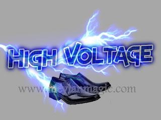 sepatu,sandal,selop,listrik,super sakti,high voltage atau hv