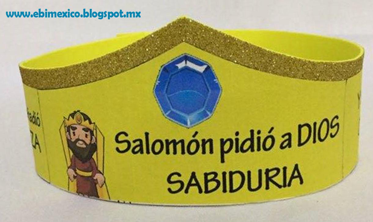 Manualidad El Rey Salomon: Recuerdo Para Los Niños