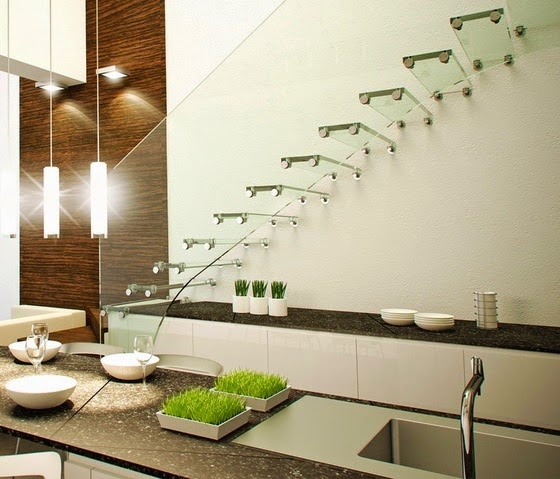 stairs design ideas, modern glass staircase