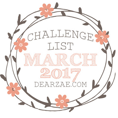March 2017 scrapbook layout challenges list