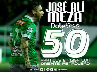 José Alí Meza 50 partidos con la camiseta de Oriente Petrolero - DaleOoo