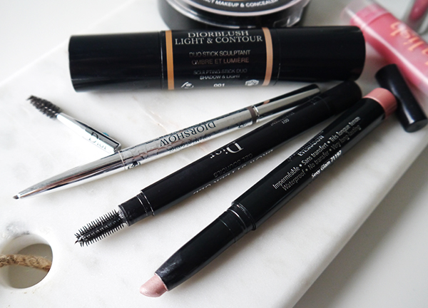 Minimalist beauty routine featuring Diorshow brow products and Canadian Lise Watier