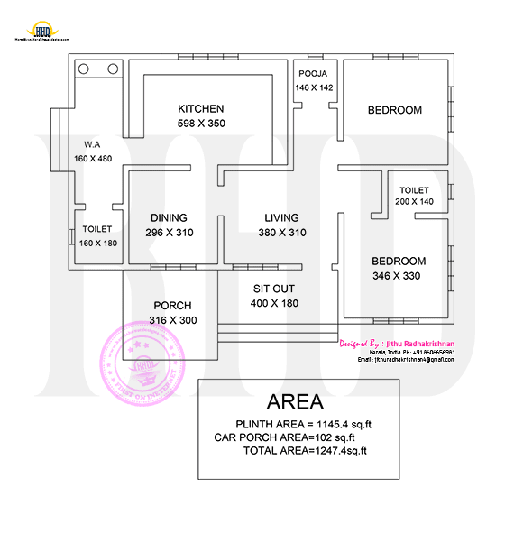 Low cost floor plan Kerala