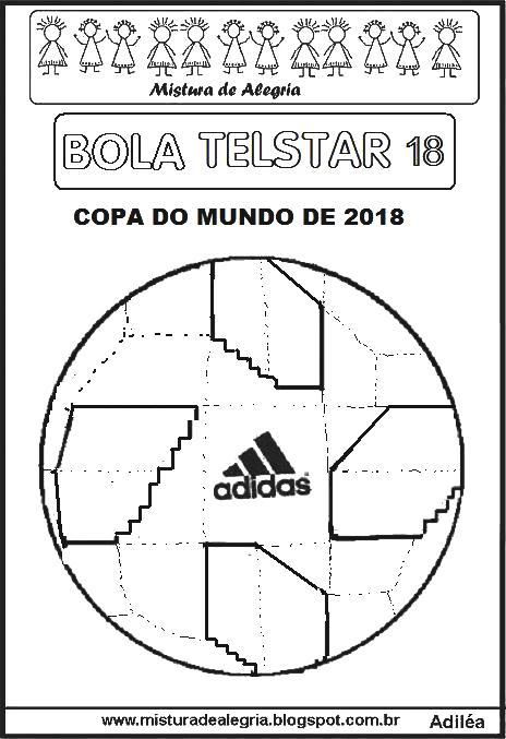BOLA TELSTAR 18 DA COPA MUNDIAL DE 2018 PARA IMPRIMIR E