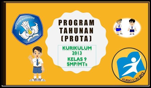 PROGRAM TAHUNAN (PROTA) KURIKULUM 2013 KELAS 9 SMP/MTs REVISI