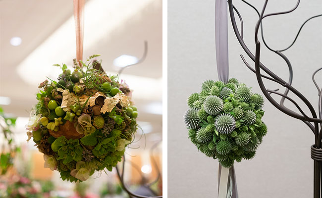 Modern take on Pomanders using succulents and botanicals