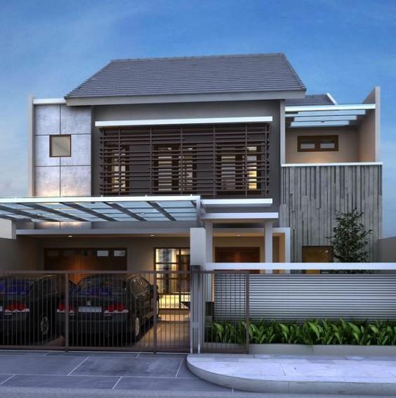 52 Desain Model Rumah Minimalis 1 2 Lantai Terpopuler