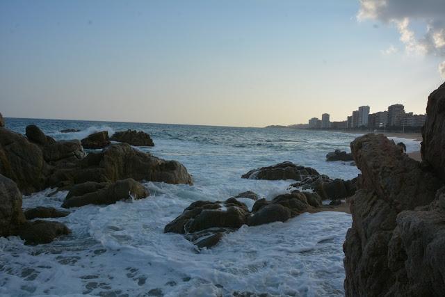 Platja D'aro waves hitting rocks