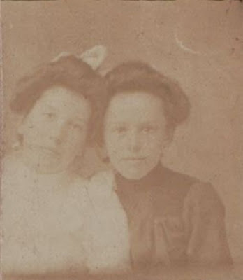 Unknown girls in album of Mary Frances Jollett Davis