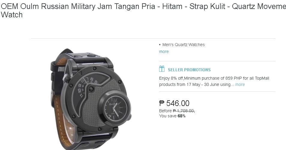 OEM Oulm Russian Military Jam Tangan Pria - Hitam - Strap Kulit - Quartz  Movement Watch  fd5d7571d2