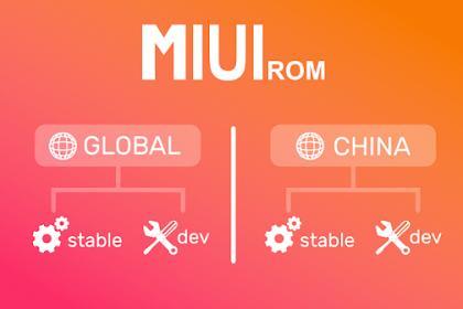 Cara Mengetahui Perbedaan Xioaimi ROM MIUI China,Stable,Developer