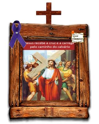 Caminho da Cruz - Jesus carrega a cruz às costas