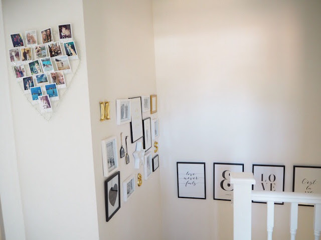 How to create a gallery wall in your home, easily and cheaply with free printable layout template to help you easily create your own display