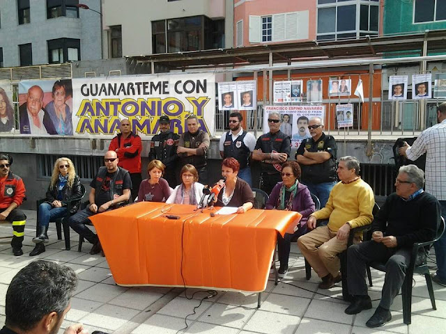 manifestación por desparecidos de Gran Canaria, domingo 6 marzo