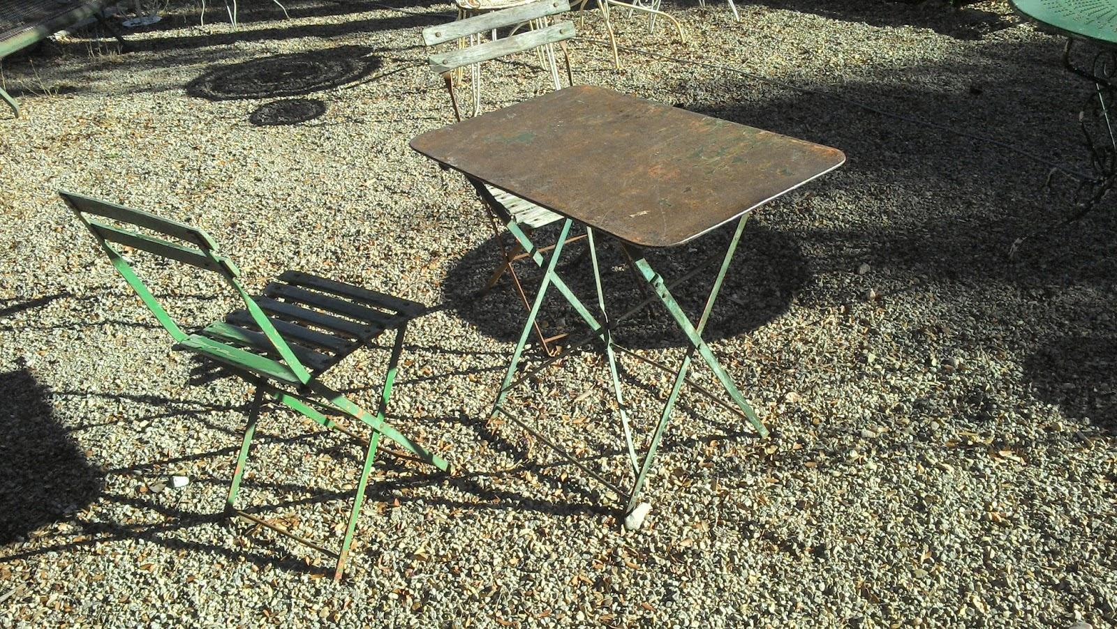 salon de jardin fer forgé métal brossé ancien provençal ...