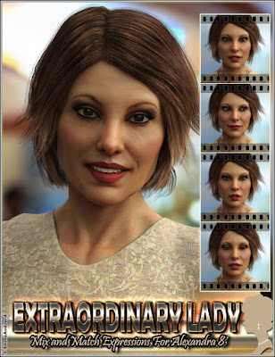 https://www.daz3d.com/extraordinary-lady-mix-and-match-expressions-for-alexandra-8-and-genesis-8-females