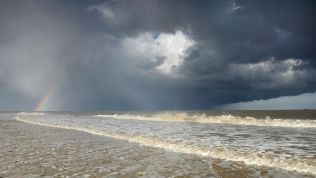 'Hailstorm and Rainbow over the Seas of Covehithe' by James Bailey took the first prize in the 16s and under category.