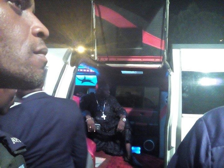 Pastor Tom Samson of Christ Royal Family steps out in Hummer limo