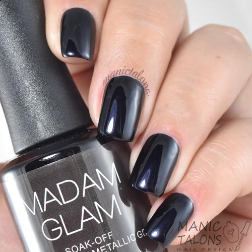 Madam Glam Metallic Gel Women In Black Swatch