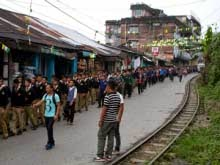 Vishwa Bharti, Shantiniketan  incident -  Mourn rally organised in Kurseong