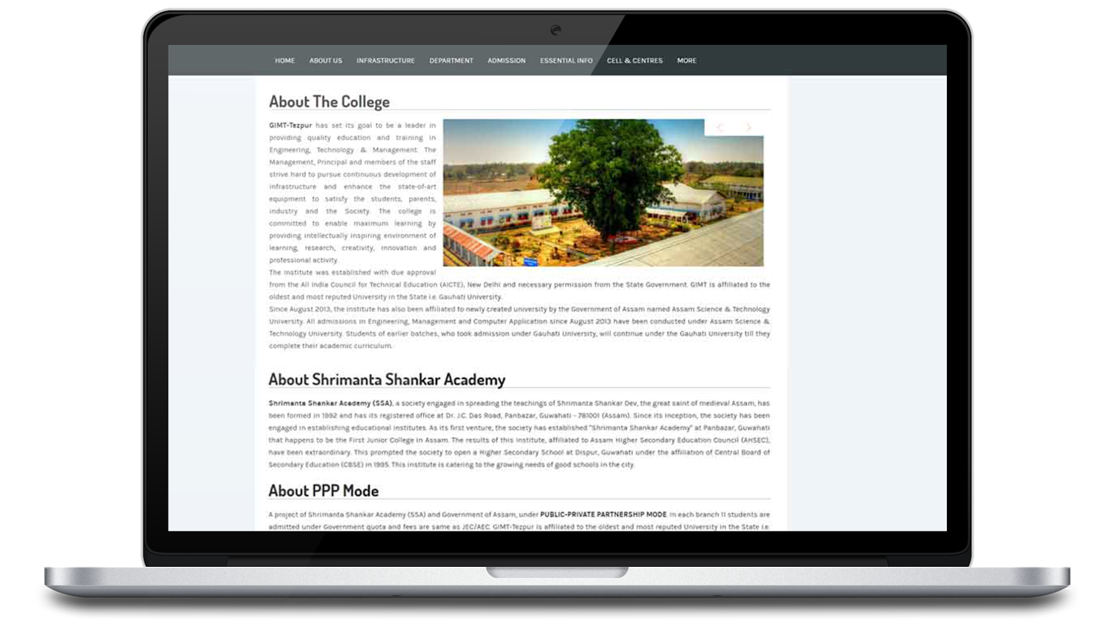College Website