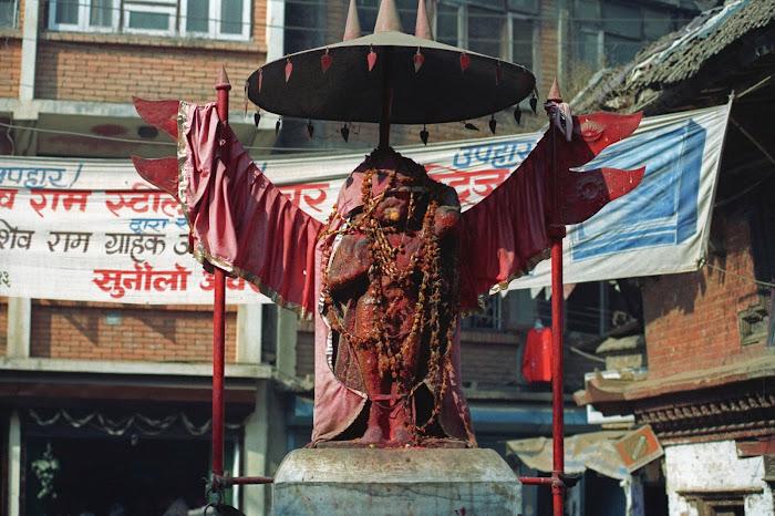 Népal, Katmandou, Hanuma Dhoka, © L. Gigout, 1990