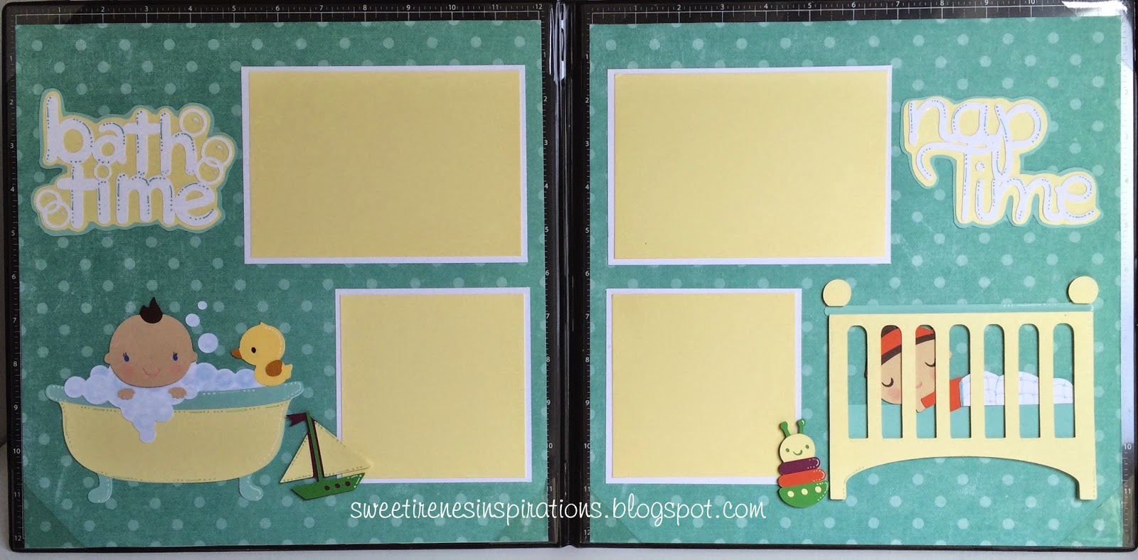 Sweet Irene S Inspirations Baby Boy Scrapbook Pages Bath