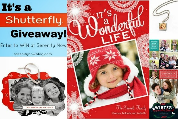Shutterfly Giveaway ($50 off an order, plus free shipping!) at Serenity Now
