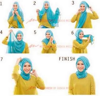 Foto Tutorial Hijab Modern Kantor Simple