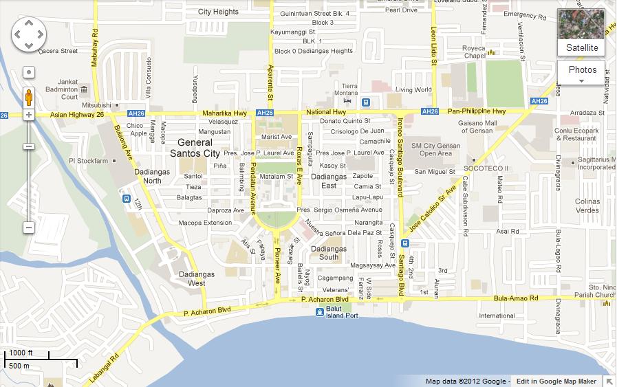 General Santos City Vicinity Map