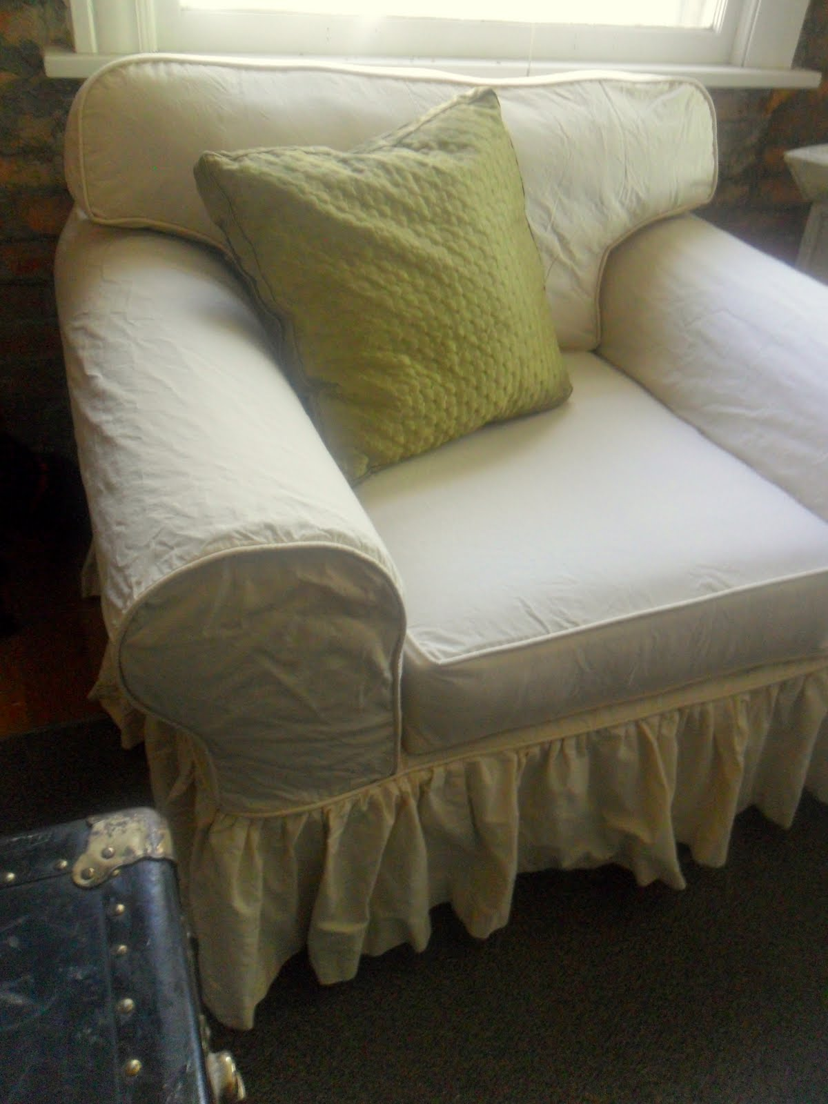 Custom Slipcovers by Shelley: Oversized Chair and Some DVD ...