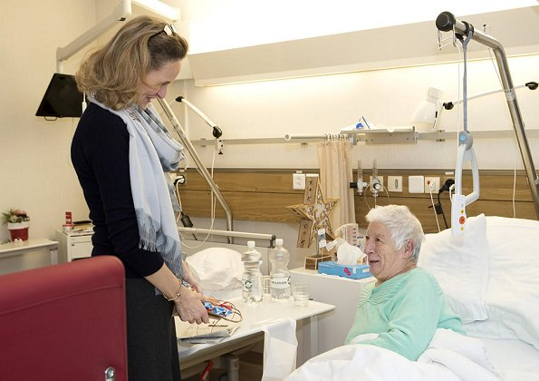 Hereditary Princess Sophie of Liechtenstein Christmas visits Landesspital Hospital and nursing home