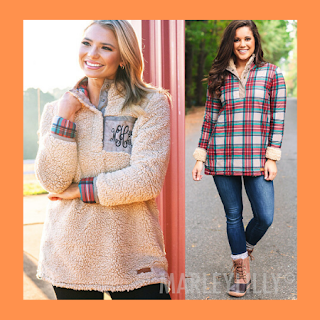 fall, monogram, sherpa pullover, reversible pullover, plaid