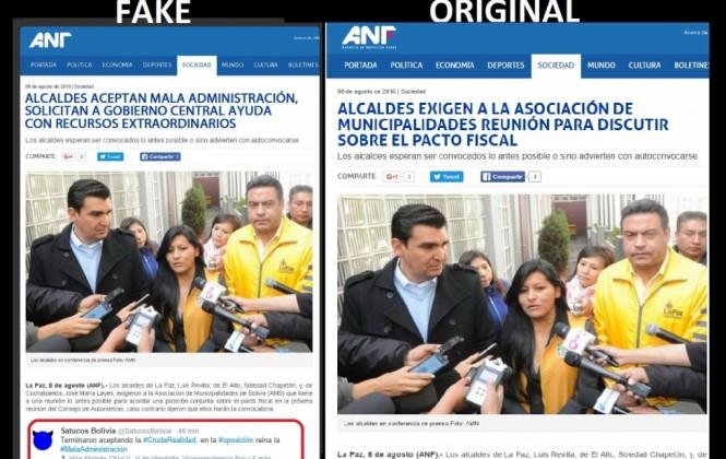 ANF denuncia uso de su imagen y sigla para difundir información falsa