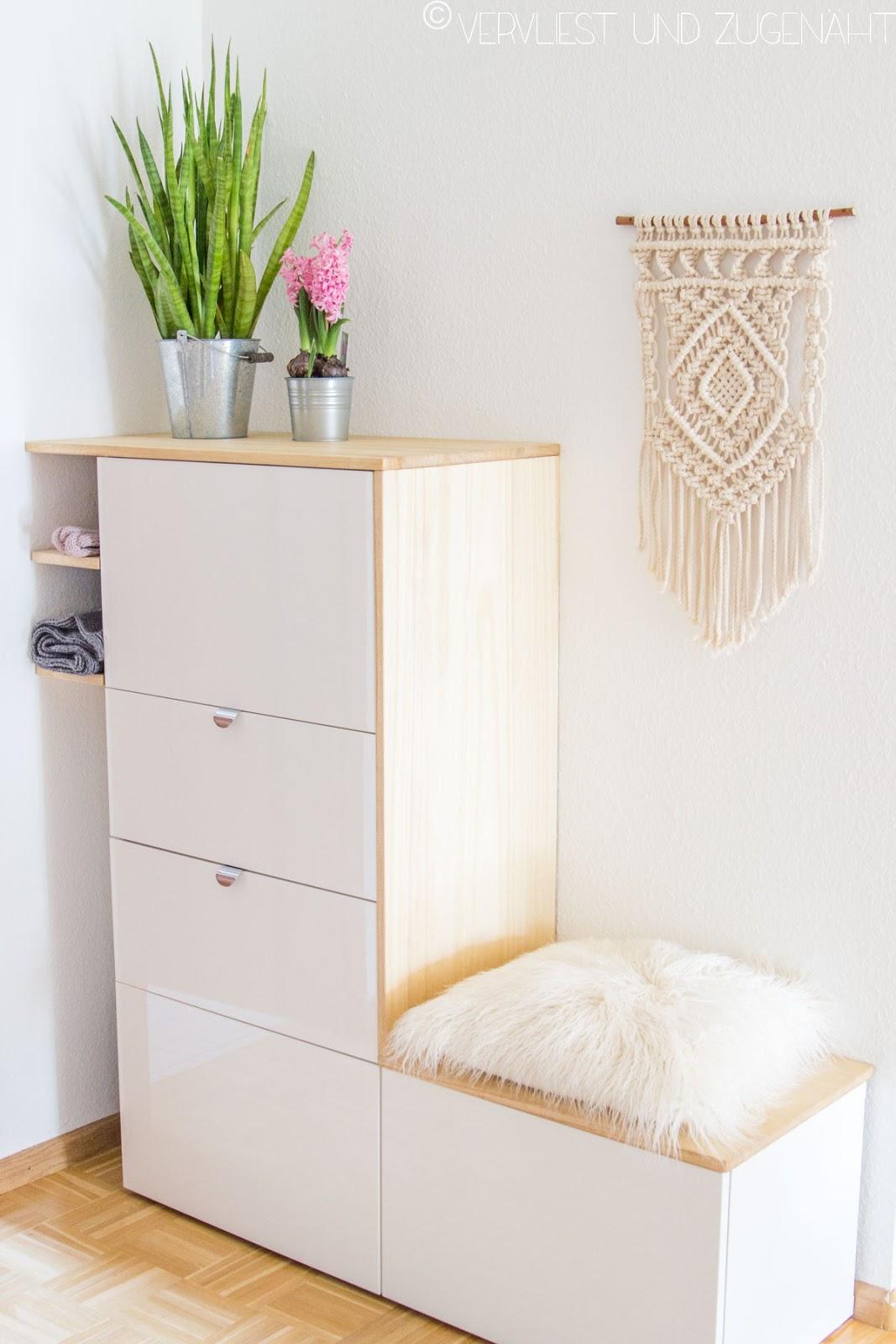 Vervliest und zugenäht Macramee Wandbehang & Ikea Hack für Besta