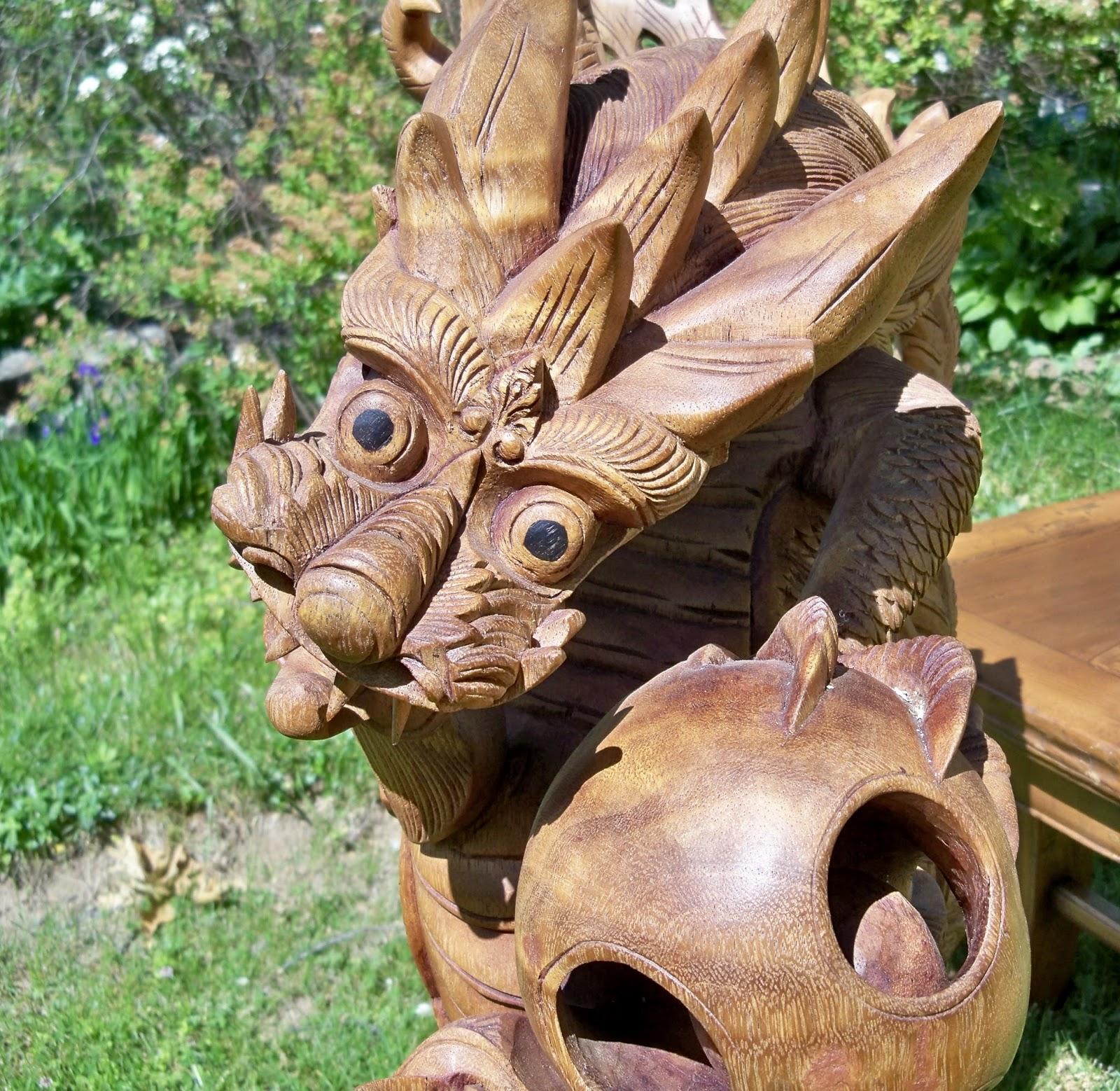 Image gallery large animal wood carvings