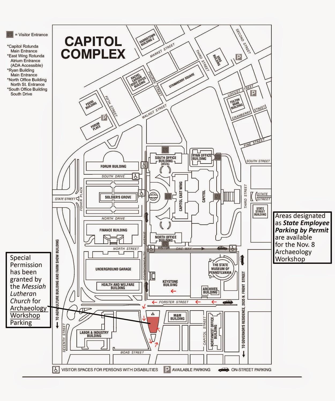 Harrisburg Capitol Complex Map Bnhspine