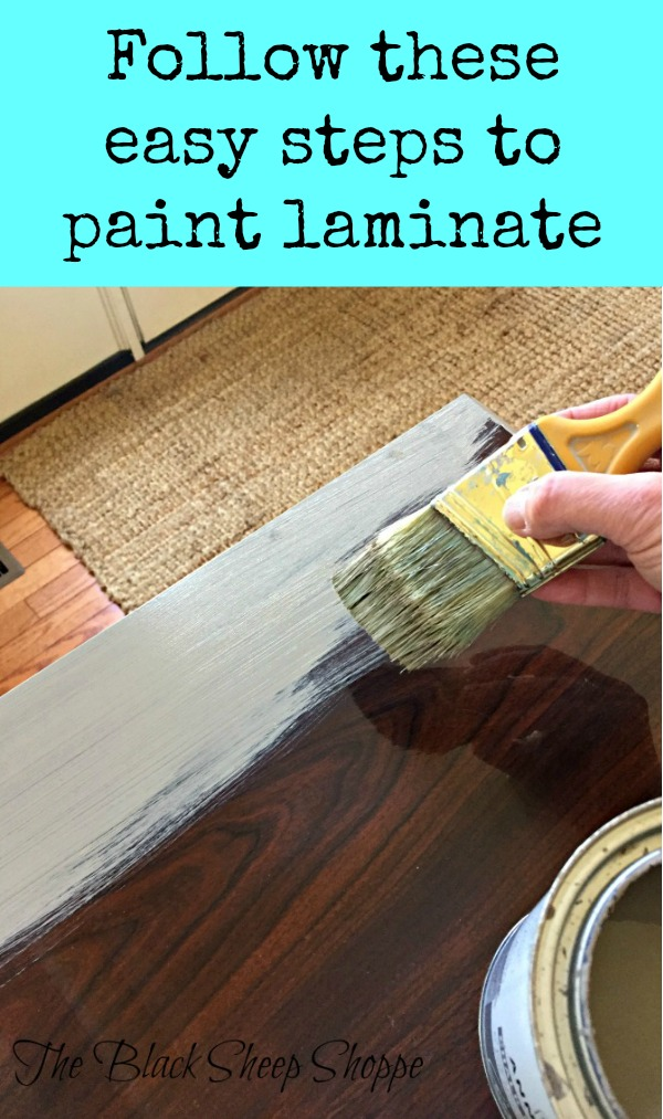Follow these easy steps to paint laminate!