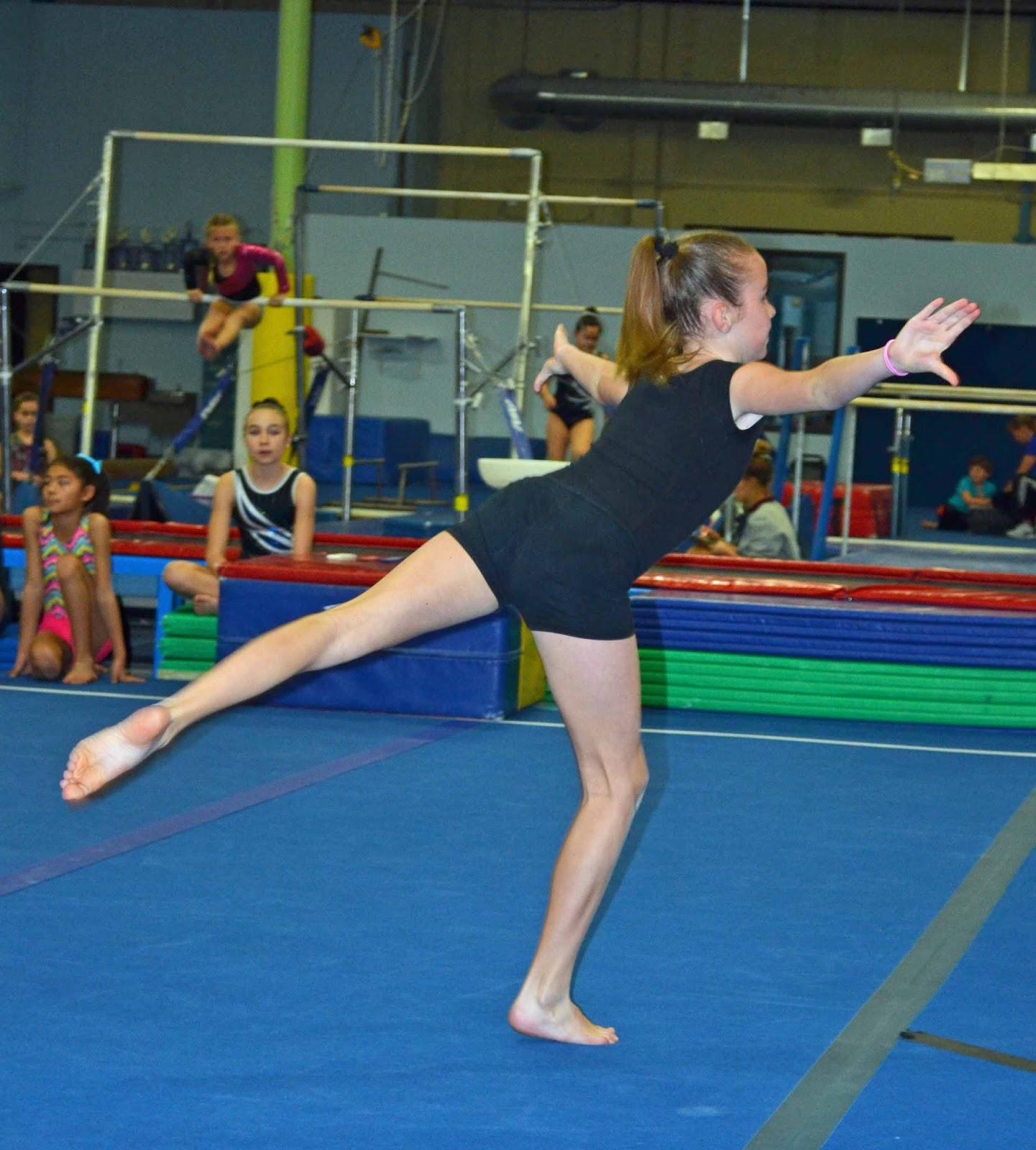 The Strong Little Women And One LONE Man: Gymnastics