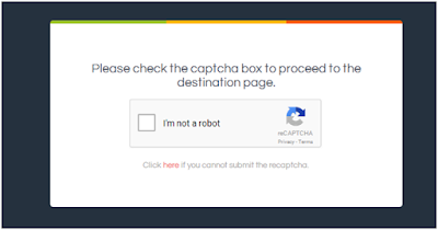 OUO Captcha dialogue box