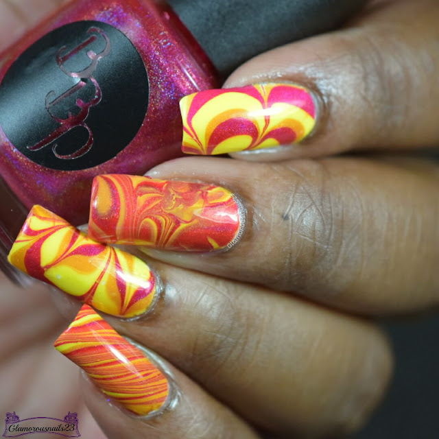 Watermarble Wednesdays: Yellow, Red & Orange