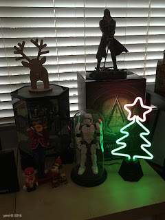 neon tree, soldiers three and a carboard reindeer