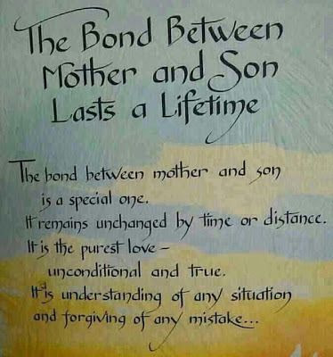 Happy Birthday wishes quotes for son and: the bond between mother and son lasts a lifetime
