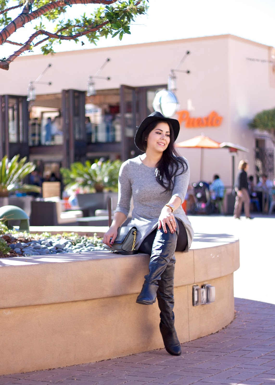 Puesto at the headquarters, san diego social blogger, san diego style blogger, latina blogger, comfy over the knee boots