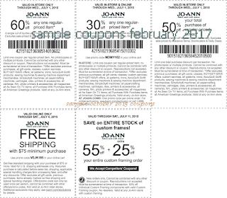 Joann coupons february 2017