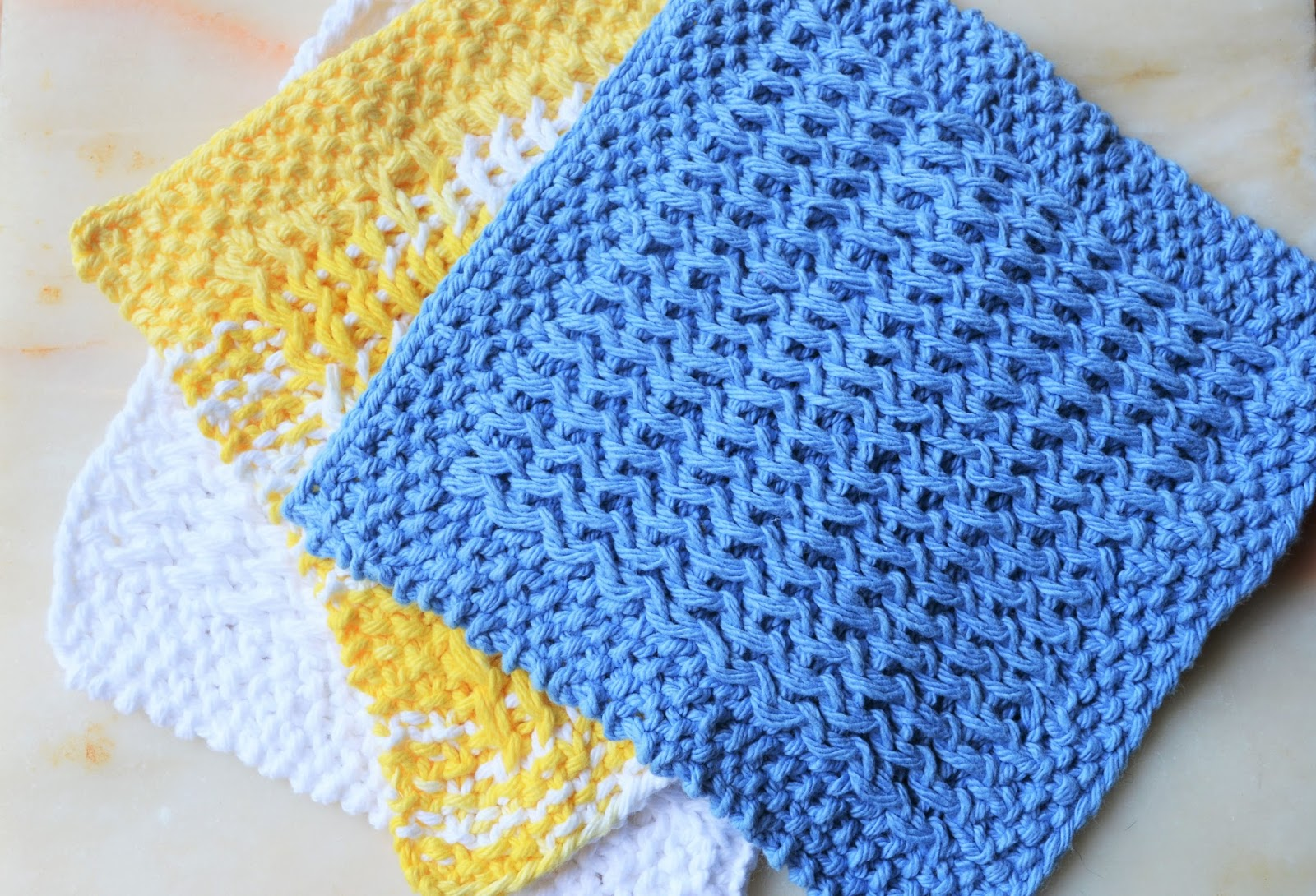 Verdigris Knits: Rank and File Stitches - New Dishcloth Pattern