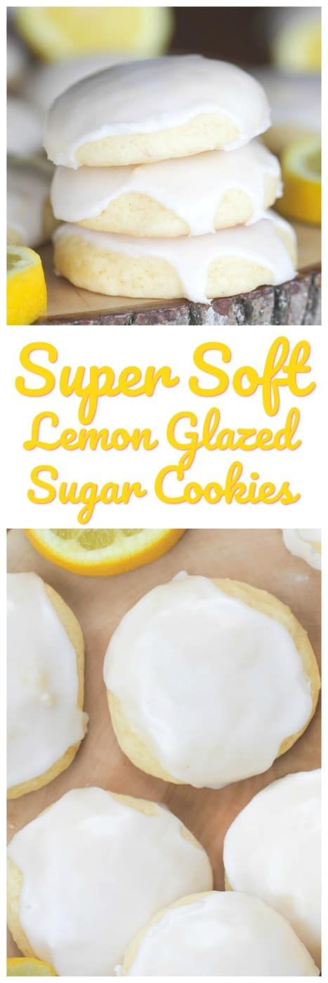 Lemon Glazed Soft-Baked Sugar Cookies
